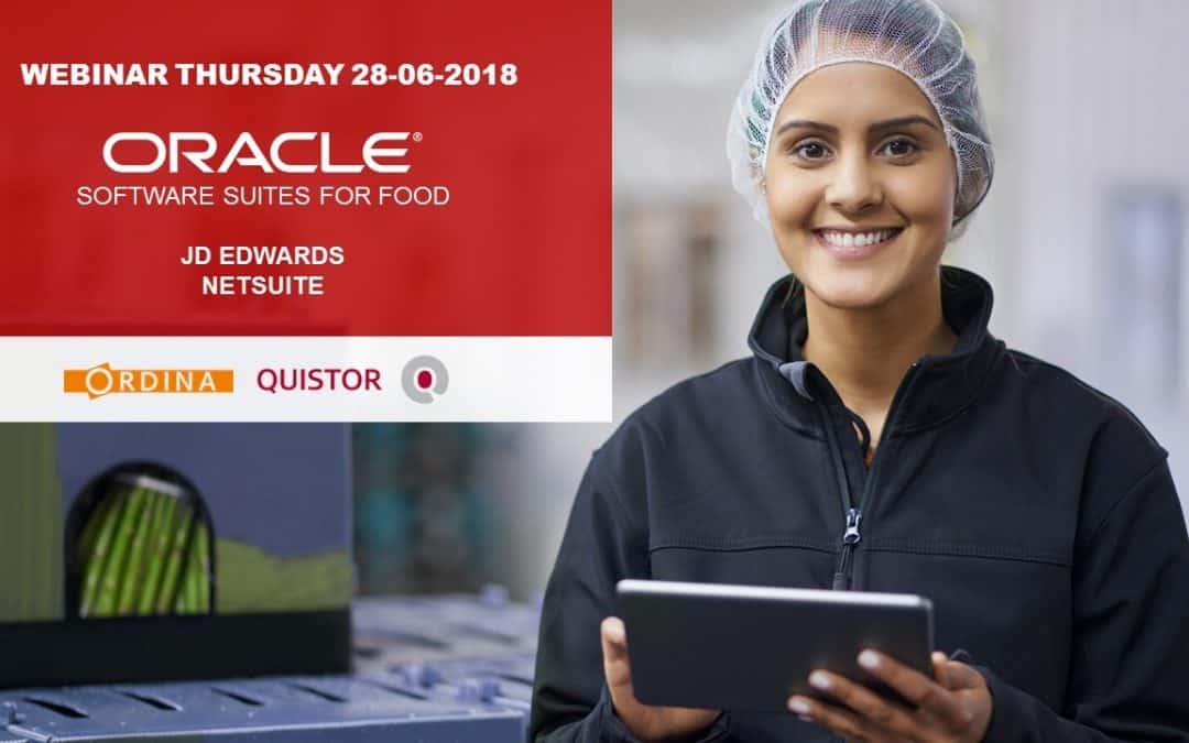 Oracle for food webinar 28 juni